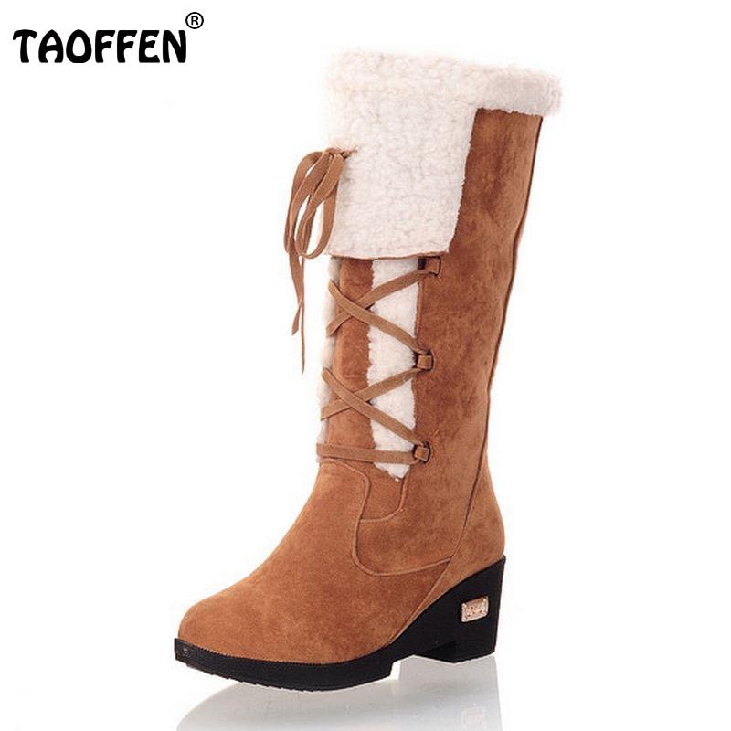 ФОТО Size 34-39 Gladiator Snow Boots Women Square Heels Half Short Boot Ladies Warm Plush Winter Half Knee Boots Shoes Woman