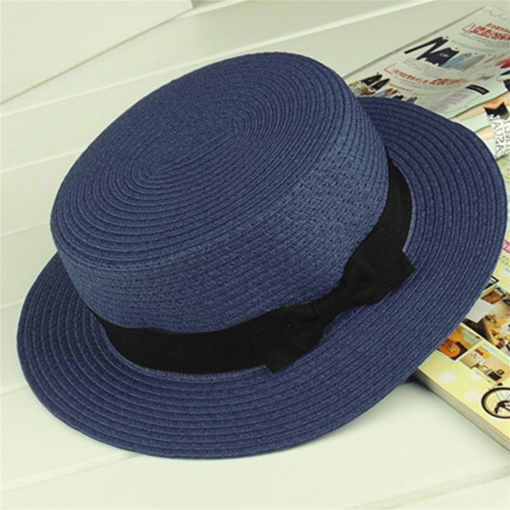 Parent-child Summer Hat 13 Color Women Children Beach Holiday Hat Sun Straw Femal Sunscreen Boater Hat 54/57cm