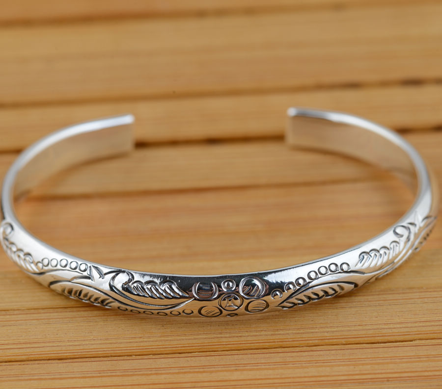 S925 ANTIQUE STERLING SILVER BRACELET wholesale silver jewelry craft female exquisite style explosion gift deer king jewelry beeswax bracelet s925 sterling silver antique shaolan craft exquisite female new early adopters