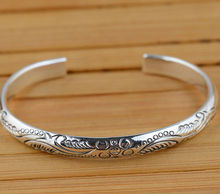 S925 ANTIQUE STERLING SILVER BRACELET wholesale silver jewelry craft female exquisite style explosion gift