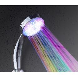 Multiple Color 7 colors Automatic Jump Changing Water Flow Showerhead Bath LED Handle Free shipping