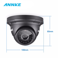 ANNKE 2MP 1080P HD Security Surveillance System Camera IR Cut Night Vision Audio Recording Waterproof Metal Housing Wide Angle