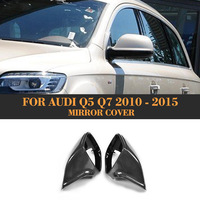 Replace carbon fiber side rear back view mirror covers Caps for Audi Q5 SQ5 Q7 S line SUV 4 Door 09 17 Q7 09 15