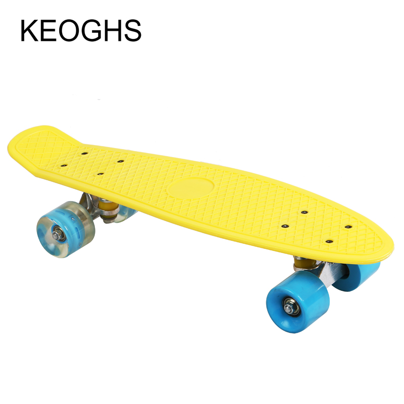 ryby dlouhá deska dospělé děti penny skateboard PU 4wheels záře venkovní sporty Kulturistika Single headed