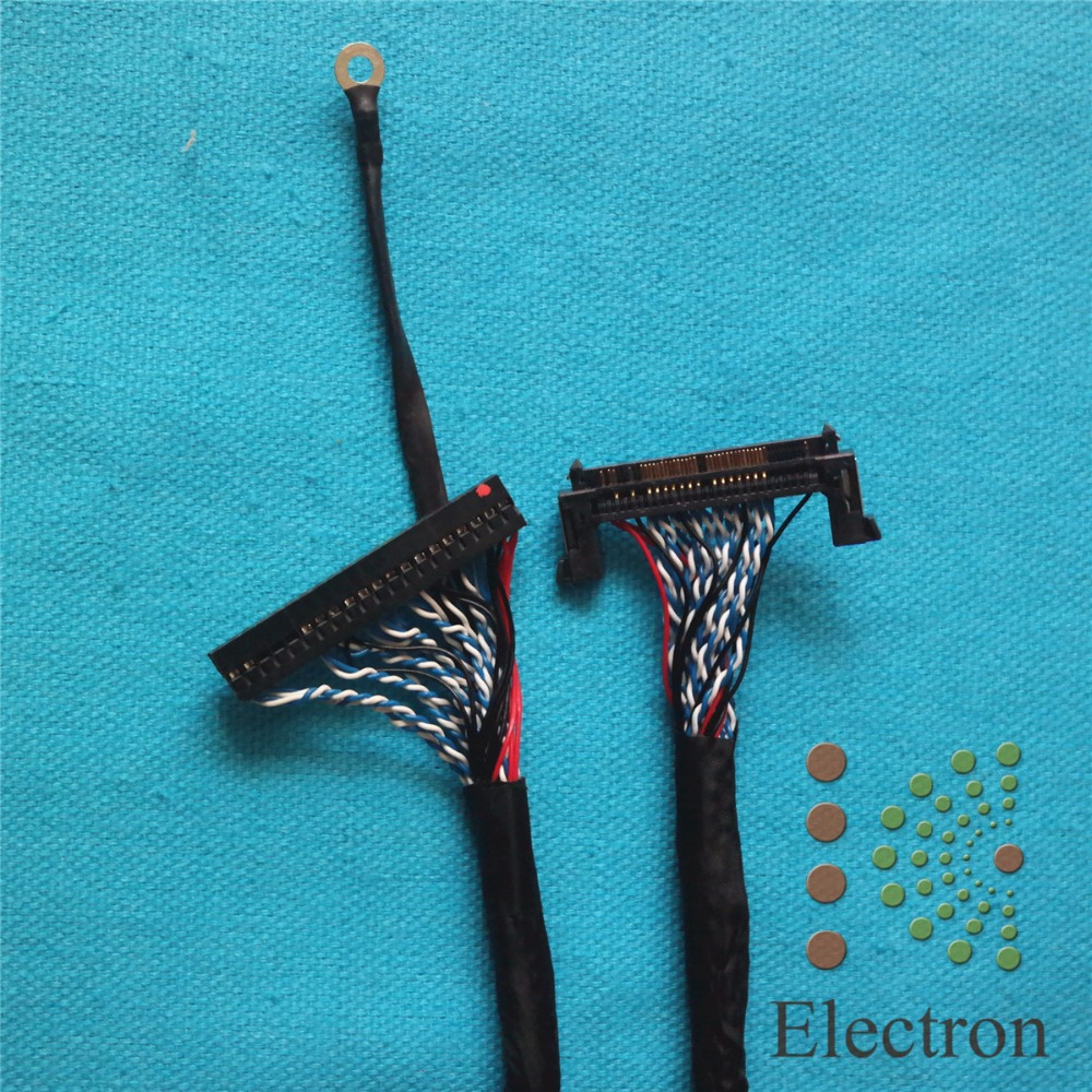 US $8 1 8% OFF FI RE51S HF LVDS Cable 51Pin Double 10bit 56cm for LG Large  Size LCD TV Monitor-in Computer Cables & Connectors from Computer & Office