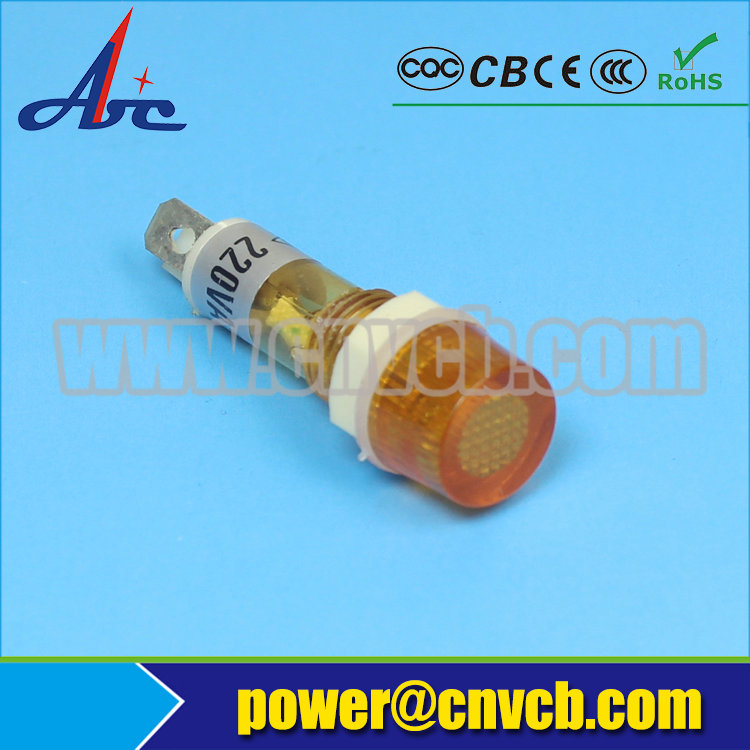 ZS109 super low prices factory 2pins 220V 10mm orange pilot light 10mm dual color indicator