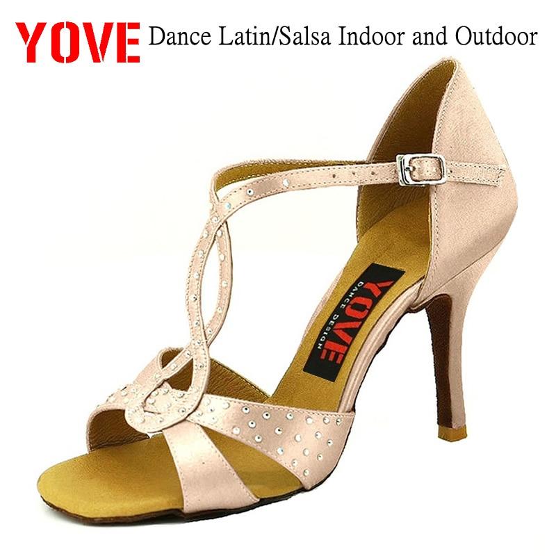 YOVE Style LD-7098 Dansskor Bachata / Salsa inomhus och utomhus kvinna dansskor