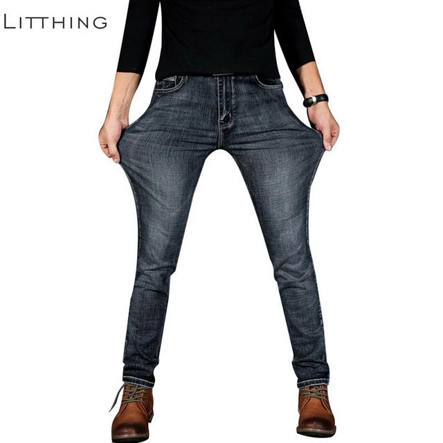 Litthing Men S Fashion Jeans High Elastic Stretch Slim Jeans 2018