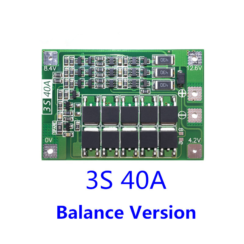 Image 3 - 18650 BMS 3S 30A/40A/50A/60A BMS Board  with Balance 11.1V 12.6V 3.7V LI ION Battery Protection Board-in Battery Accessories from Consumer Electronics