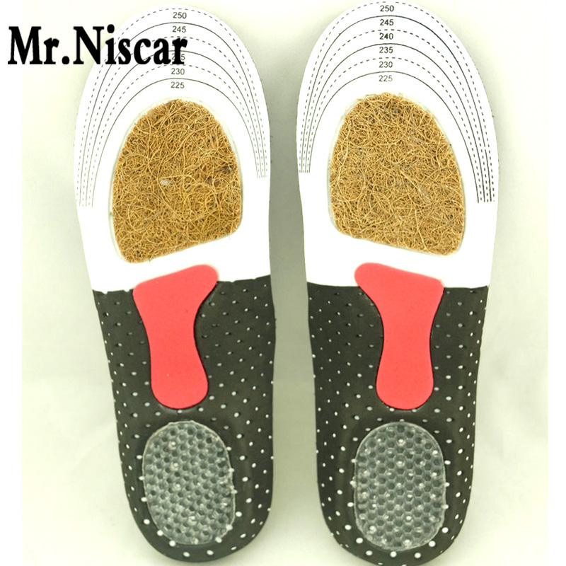 Mr.Niscar Free Size Unisex Orthotic Arch Support Sport Shoe Pad Sport Running EVA Gel Insoles Insert Cushion for Men Women 2016 1 pair large size orthotic arch support massaging silicone anti slip gel soft sport shoe insole pad for man women