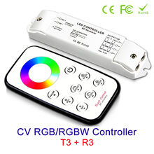 цена NEW led strip RGB/RGBW controller DC 12v 24V Receiver Output Current Max 3Ax3CH & RF Wireless Remote онлайн в 2017 году