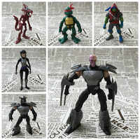 As tartarugas de esgoto anime figura de ação perfeita qualidade pvc estatueta shredder abril · o neil neil rocksteady brinquedos para crianças