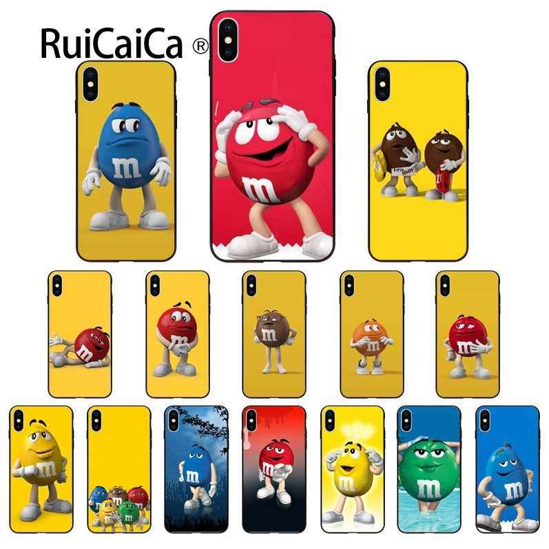 Фото Ruicaica M & M's Chocolate Black мягкий чехол для телефона iPhone X XS MAX 6 S 7 plus 8 Plus 5 5S
