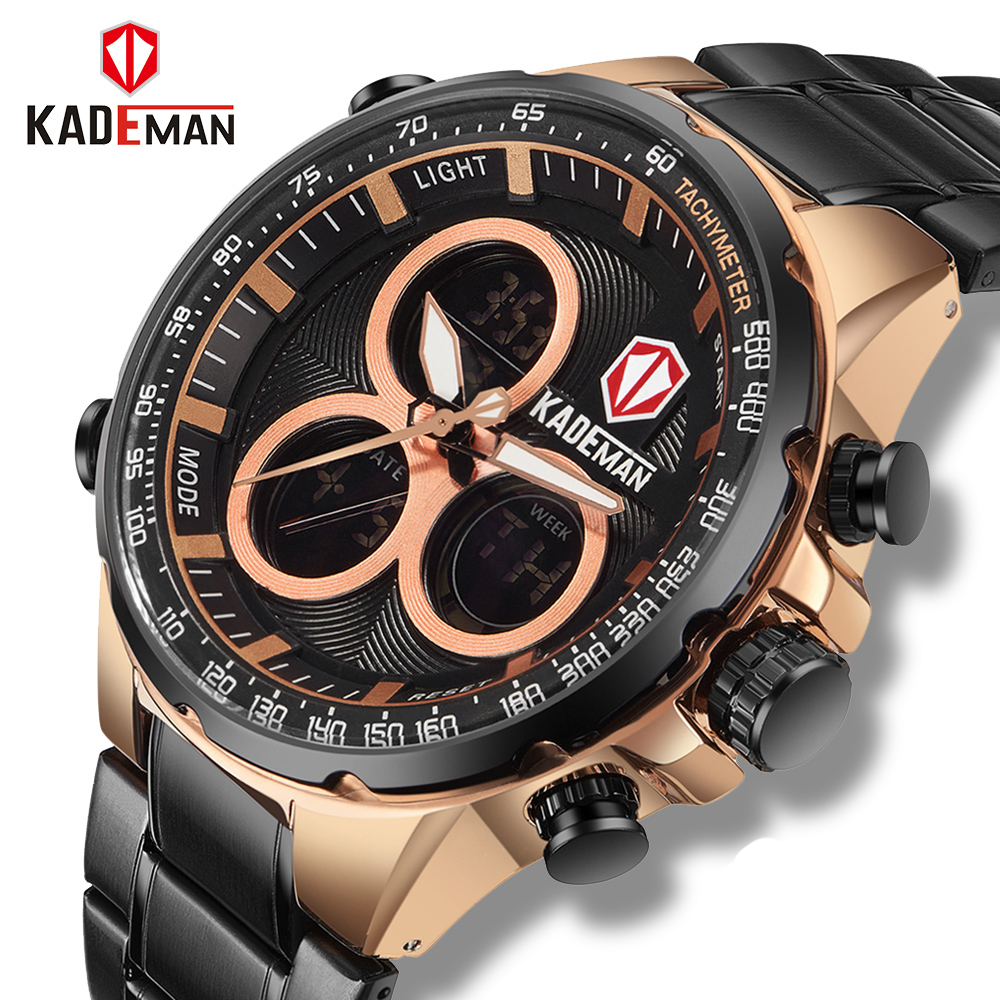 Luxury Brand Watches Men Sports Watch Stainless Steel Waterproof LED Digital Quartz Military Men's Watch Clock Relogio Masculino все цены