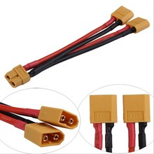 XT60  Parallel Battery Connector Cable Extension Y Splitter for RC Quadcopter  F16768