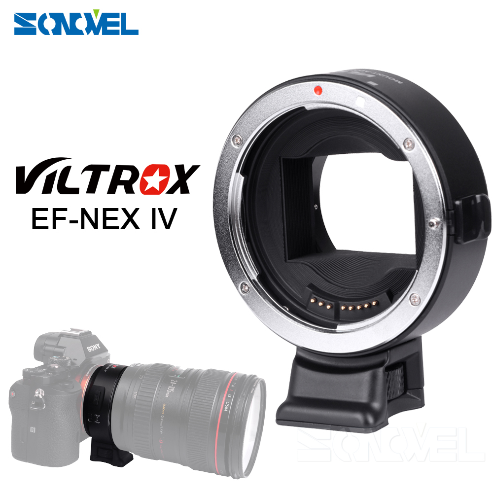 Viltrox EF-NEX IV Auto Focus Lens Adapter for Canon EOS EF EF-S Lens to forSony E NEX Full Frame A9 AII7 A7RII A7SII A6500 A6300 viltrox ef nexiii auto focus lens mount adapter for sony nex e full frame camera a7r m s2 a6300 to use canon ef ef s lens