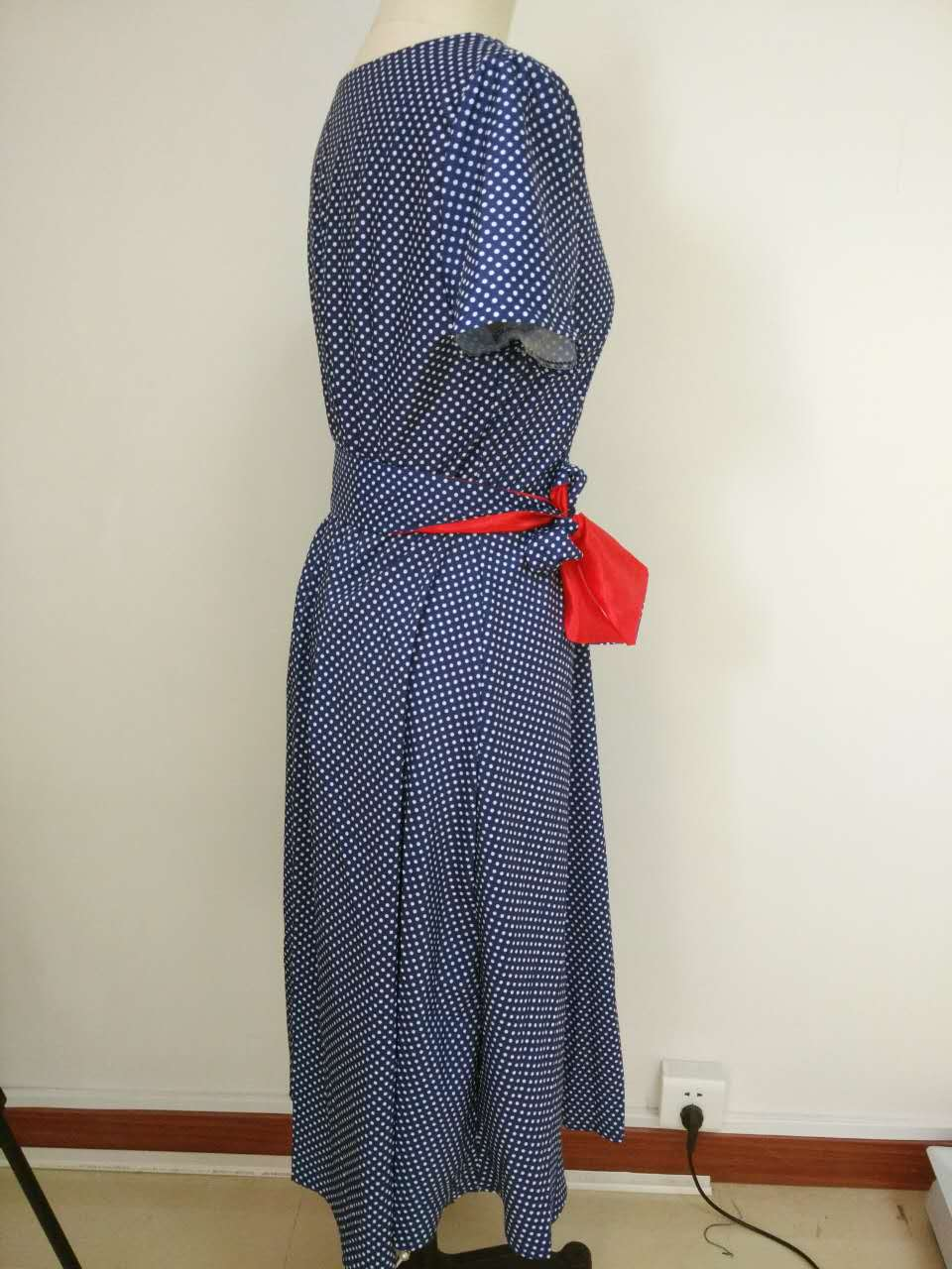 2018 Summer Dress Polka Dot Vintage Dress Short Sleeve Sexy Women Midi Dress Casual Party Dresses  Plus Size GV173 4