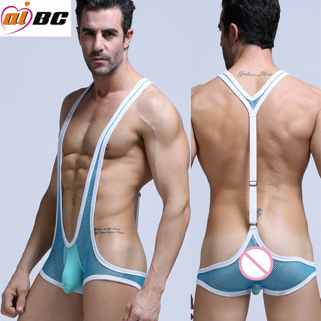 Men Sexy Shapers Good Elasticity Boxers Net Yarn Siamese Underwear Panties Shapers Male Fashion Sexy Pajamas