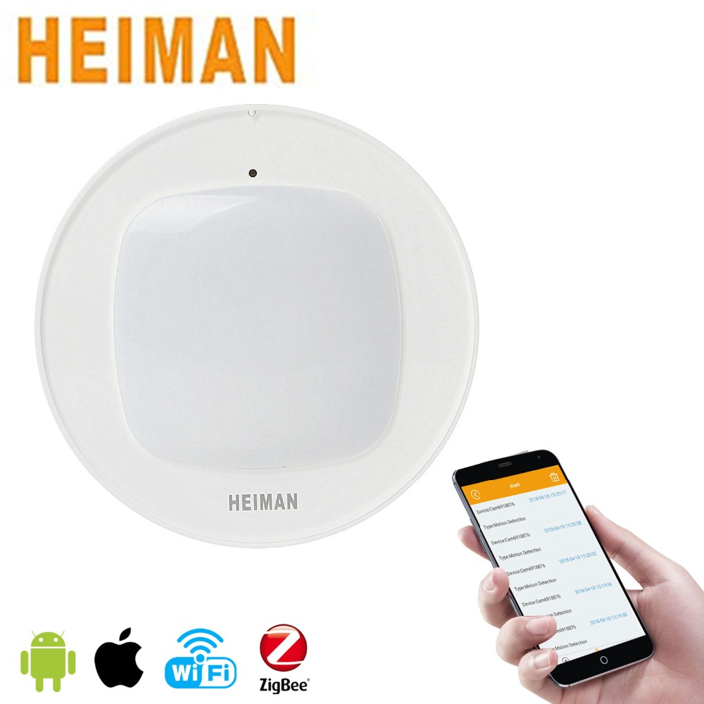 HEIMAN Zigbee Wireless Smart Motion Infrared  Sensor Detector Remote Controlled Mini Alarm For Home Security Anti-Theft HS3MS