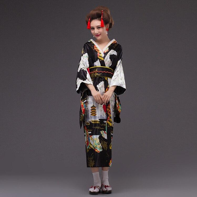 2017 nouveau Japon Kimono Femmes Geisha Kimono Robe De Bal Vintage - Vêtements nationaux - Photo 5