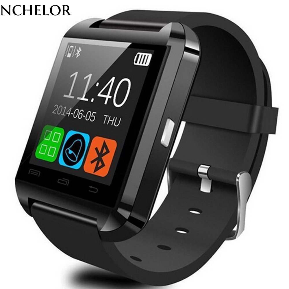 Bluetooth Smart Watch U80 för iPhone IOS Android Smart Phone Wear - Herrklockor