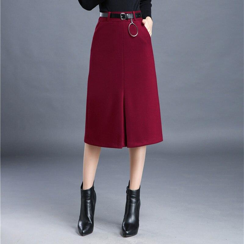 s skirt 2016 winter fashion woolen skirts high