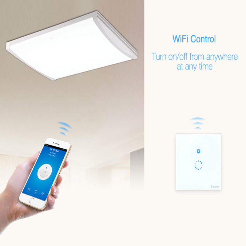 Itead Sonoff Touch schalter, Wifi LED Licht Wand Smart Home ...