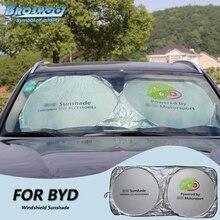 Broshoo лобовое стекло автомобиля с тентом стекло от солнца лобового стекла козырек Обложка для BYD F0 F3 F3R F6 E6 S7 S6