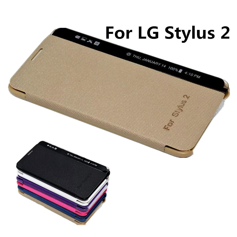 the best attitude efd77 d1684 US $3.25 |Flip Side Wake Screen PU Leather Cover Case For LG Stylus 2 K520  Phone Case write