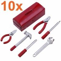 10 Sets 1/10 RC Rock Crawler Mini Hammer Wrench & Tools Box Decor For Axial SCX10 TAMIYA CC01 RC4WD D90 Climbing Car Parts