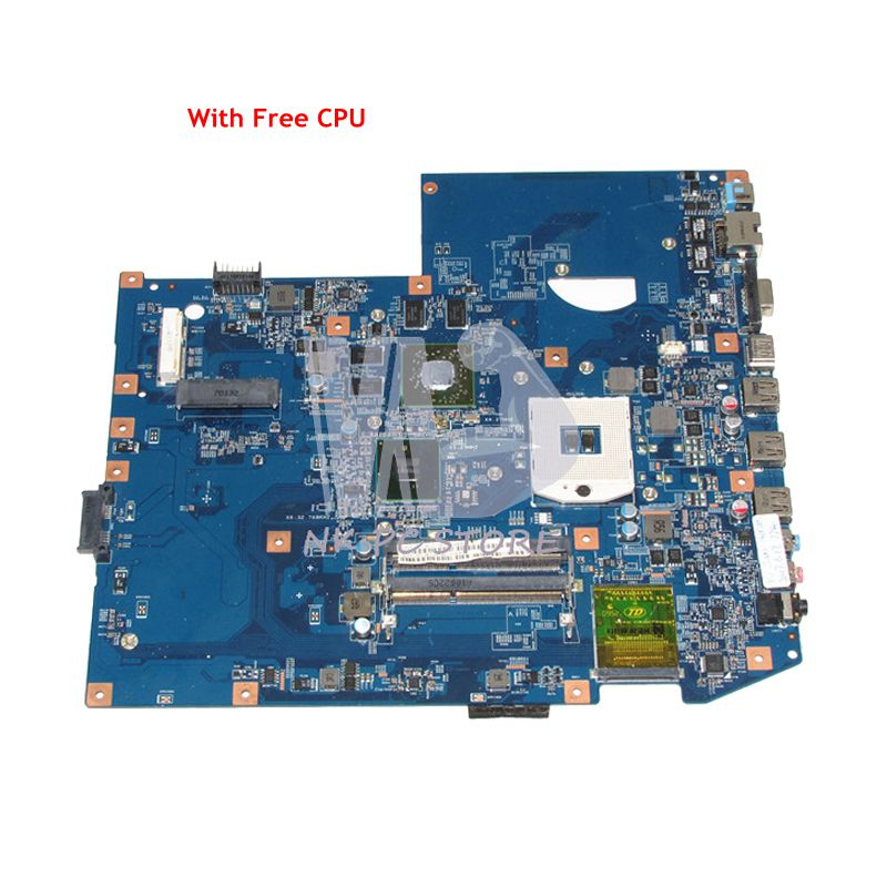 NOKOTION MB.PLX01.001 MBPLX01001 For Acer aspire 7740 7740G Laptop Motherboard 48.4GC01.011 HM55 DDR3 HD5650 1GB Free CPU