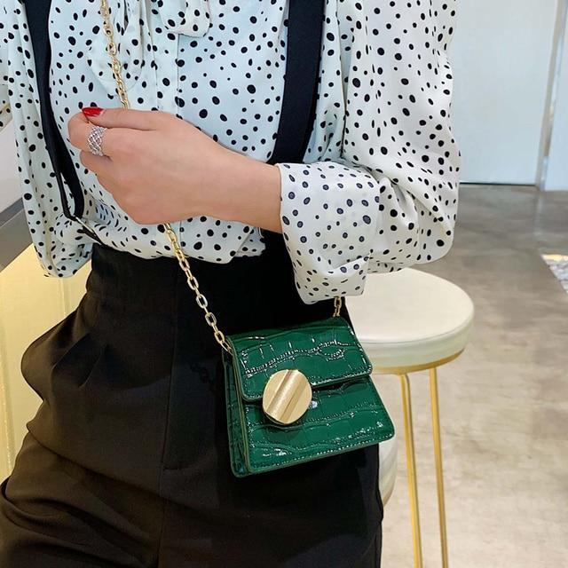 Moda 2019 nueva bolsa de mano de cuero de calidad bolso de diseñador de Mujer bolso de bandolera con patrón de cocodrilo 4