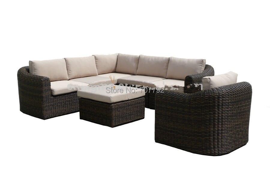 2017 Neue Design Sofa Möbel Garten Terrasse Rattan L Förmigen Lounge Suite  Möbel