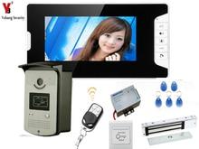 YobangSecurity 7 Inch Video Door Phone Home Security Camera Monitor Doorbell Entry Intercom System with Door Lock Remote Control
