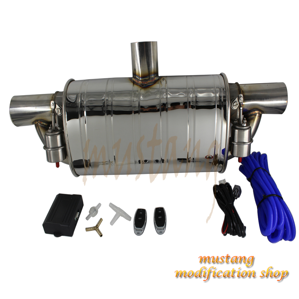 Universal various size car tuning muffler valve controller exhaust Pipe accessories Stainless Steel embossing