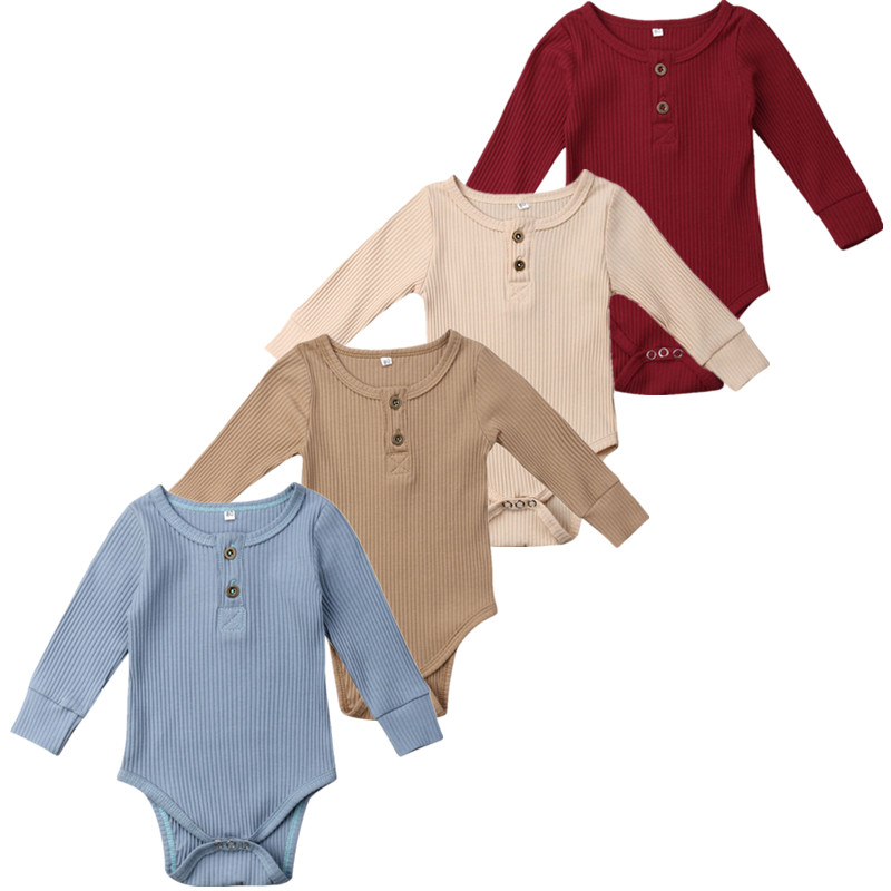 8Color 0 24 M Toddler Baby Girls Clothes Basic Pure Color Outfit Long Sleeve Cotton Romper 8Color ! 0-24 M Toddler Baby Girls Clothes Basic Pure Color Outfit Long Sleeve Cotton Romper Baby Solid Jumpsuit Clothing