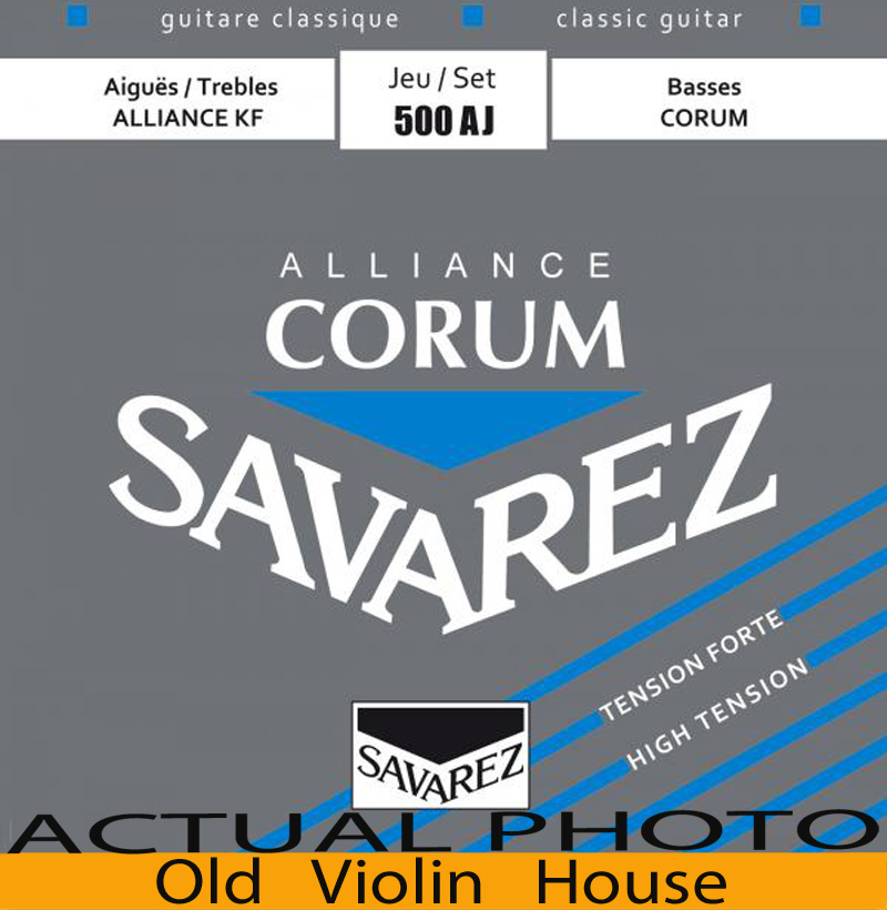 Original Savarez 500AJ Classical Guitar Strings, Full Set  ,High Tension,Free Shipping! classical guitar strings set cgn10 classic nylon silver plated normal tension 028 045 classical guitar strings 6strings set