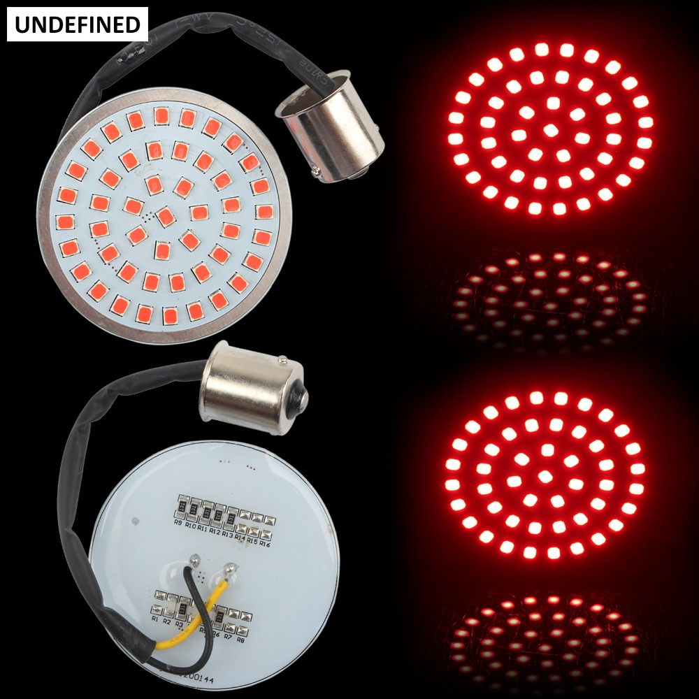 Motorcycle Bullet 1156 Inserts LED Turn Signal Indicator Light Panel for Harley Touring Sportster XL1200 Softail Dyna FLSTF FXD