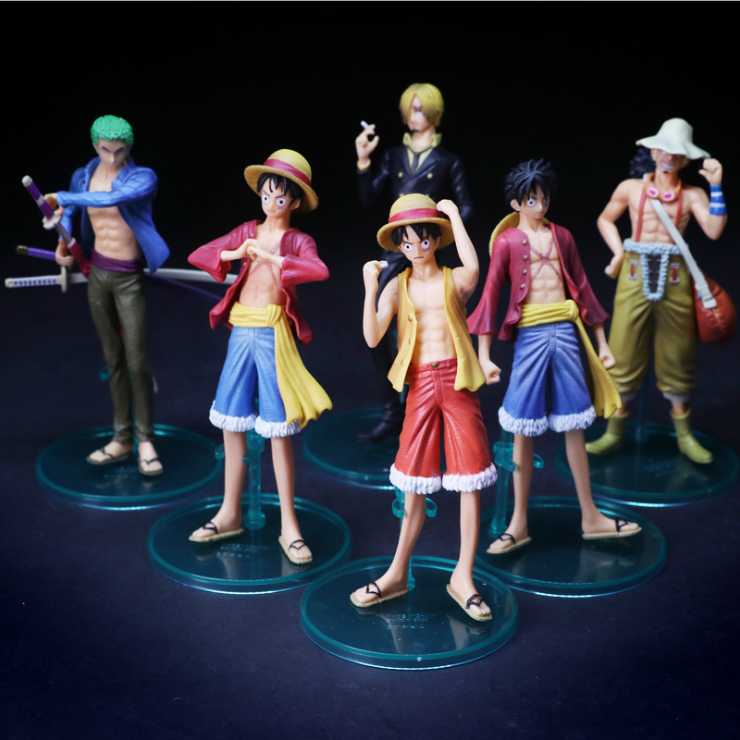Anime Japanese Luffy Usopp Sanji Roronoa Zoro pvc action figure catoon one piece figure kids model toys doll juguetes brinquedos