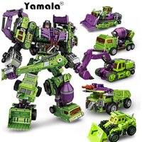 [Yamala] New Transformation Robot Toys Ko Version Gt Scraper Long Haul Mixmaster Forklift excavator Action Figures Robot Toys
