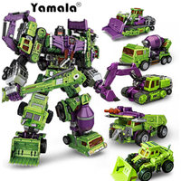 Yamala IN STOCK Transformation Robot Ko Version Gt Scraper Of Devastator Right Thigh Action Figure
