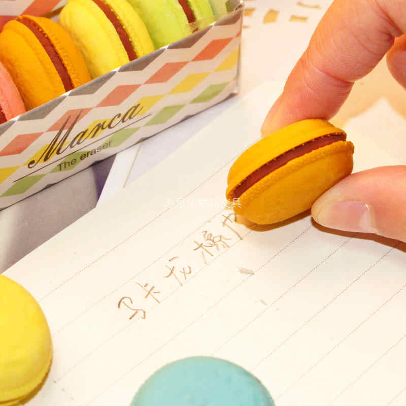 F26 5X Kawaii Kuchen Macaron Gummi Radiergummi Material escolar borracha Kid Studenten Lohnende Geburtstag Geschenk Schule Versorgung Schreibwaren