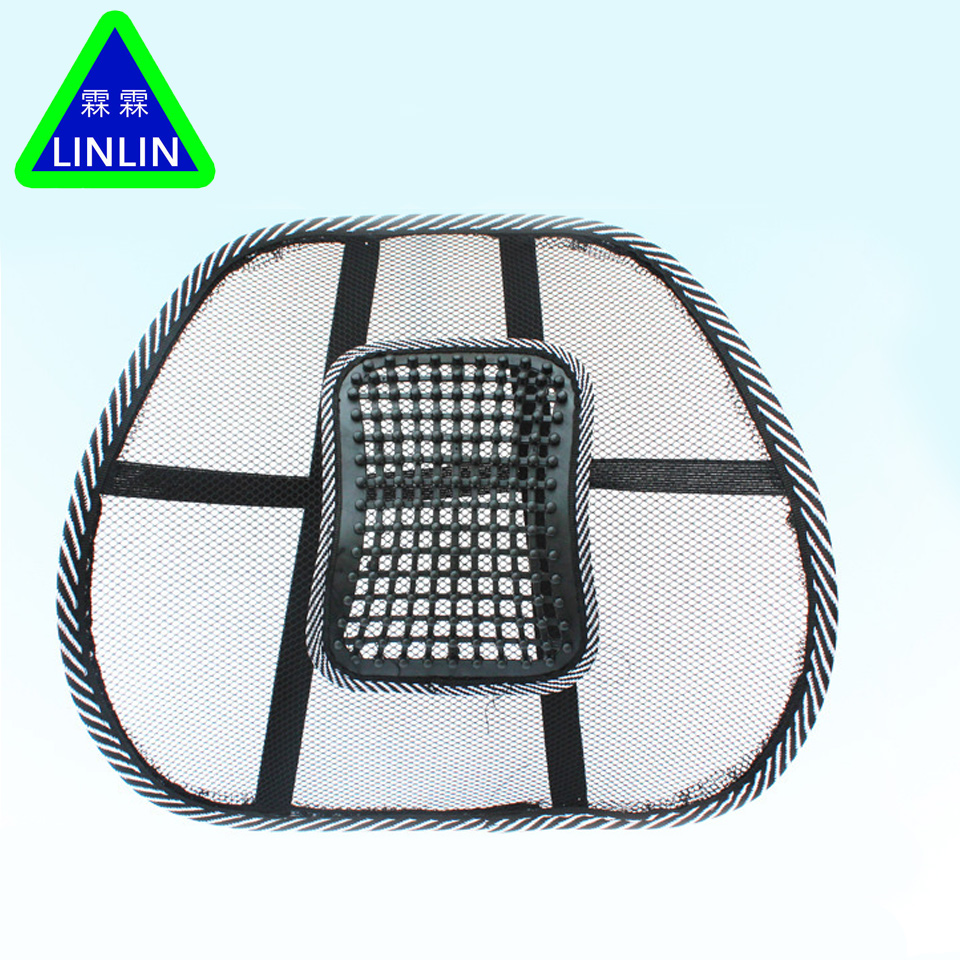 LINLIN Mesh Lumbar Lower Back Support Cushion Seat Posture Corrector Car Office Chair