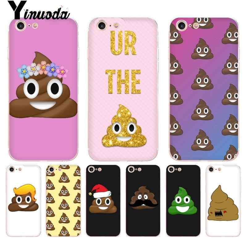 Yinuoda Funny Queen Emoji with crown Shit Smile Transparent Phone Cover  Case for iPhone 8 7 6 6S Plus X 5 5S SE XR XS XSMAX