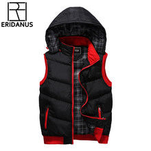 2017 Brand Vest Winter New Men's Fashion Outerwear Leisure Casual Vest Coat Warm Sleeveless Jacket Men Military Waistcoat X355(China)