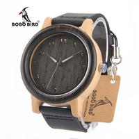 BOBO BIRD N16 Wooden Watches Eastern Arabic Numerals Dial Face Watches Accept Customization and Dropshipping with Wood Gift Box Network Switches