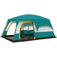 New Outdoor Multiplayer Double layer big space tents Oversized waterproof anti UV camping tent