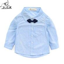 I. K Spring Toddle Jungen binden Shirts Kindermode lässig Baumwollhemd Kinder Marke Kleidung blau grün rosa gelb weiß CC24002