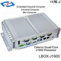 Дешевые Intel Celeron J1900 Промышленные ПК случае с 5 Порты usb мини промышленных ПК Портативный Linux ОС Windows безвентиляторный мини ПК