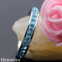 Perfect Party Design Big Promotion Hermosa Jewelry 925 Sterling Silver Wedding Round Tourmaline Rings For Women